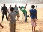 Akshay Kumar playing cricket at song shooting of Oh My God movie stills