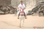 Akshay Kumar riding a horse in OMG Oh My God! Movie Stills
