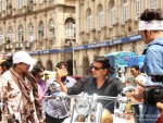 Akshay Kumar with crew at song shooting of Oh My God movie stills