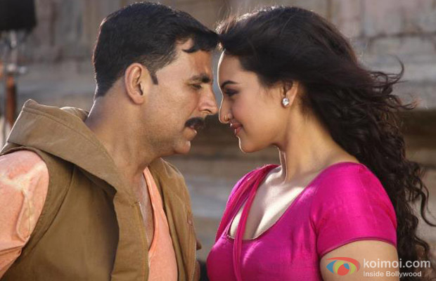 Akshay Kumar and Sonakshi Sinha (Rowdy Rathore Movie Stills)