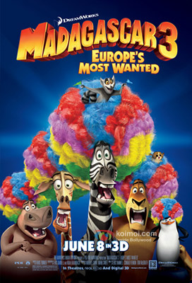 Madagascar 3: Europe's Most Wanted Review (Madagascar 3: Europe's Most Wanted Movie Poster)