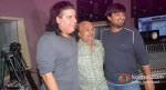 Sajid Khan, Sameer, Wajid at the song recording of Himmatwala