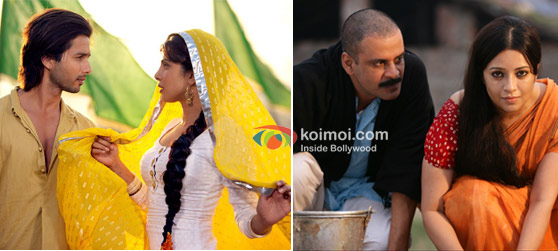 Shahid Kapoor  and Priyanka Chopra In Teri Meri Kahaani, Manoj Bajpayee and Reema Sen in Gangs Of Wasseypur