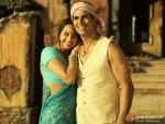 Smiling jodi Sonakshi Sinha and Akshay Kumar In Joker Movie Stills