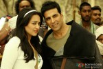 Sonakshi Sinha and Akshay Kumar on the set of Joker Movie Stills