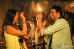 Sonakshi Sinha and Akshay Kumar having fun in Joker Movie Stills