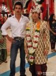Sonu Sood, Sandeep Baswana on the sets of Hitler Didi To Promote Maximum Movie