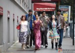 Sridevi leading the way for her friends in English Vinglish Movie Stills