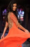 Diana Penty walks the ramp Mijwan Sonnets in Fabric fashion show