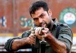 Abhay Deol firing a gun in Chakravyuh Movie Stills
