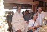Amitabh Bachchan, Jaya-Bachchan, Dheeraj Kumar At Rajesh Khanna's Prayer Meet