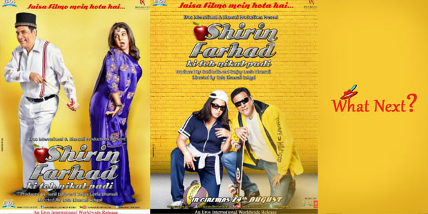 Farah Khan, Boman Irani In Shirin Farhad Ki Toh Nikal Padi Movie Posters