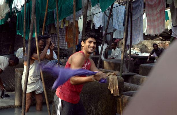 Prateik Babbar at Mahalaxmi Dhobi Ghat for Amir Khan's 'Dhobi Ghat'
