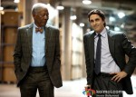 Morgan Freeman and Christian Bale In The Dark Knight Rises Movie Stills