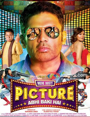 Om Puri, Suniel Shetty, Udita Goswami In Mere Dost Picture Abhi Baki Hai Movie
