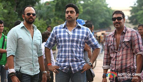 Rohit Shetty, Abhishek Bachchan, Ajay Devgan