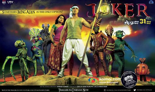 Sonakshi Sinha and Akshay Kumar In Joker Movie Poster