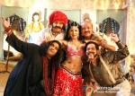 Zakir Hussain, Ranjeet, Sambhavna Seth, Arun Bakshi and Govind Namdeo In Qayamat Hi Qayamat Movie Stills