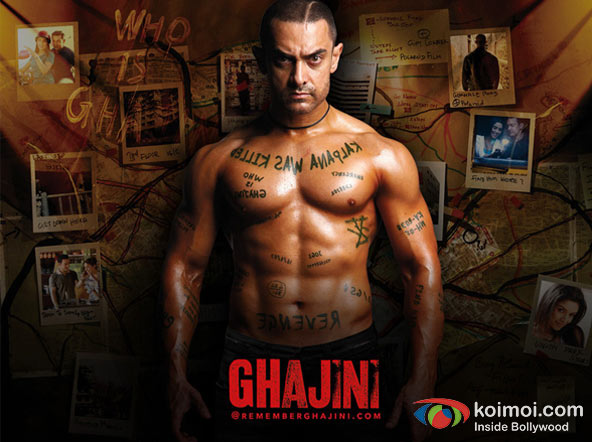 Aamir Khan Ghajini Movie Poster