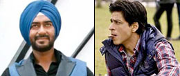 Ajay Devgan in Son Of Sardar Movie And Shah Rukh Khan in A Chopra Romance Movie