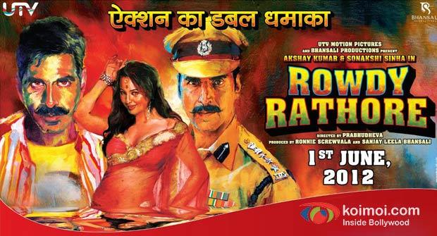 Akshay Kumar and Sonakshi Sinha In Rowdy Rathore Movie Poster