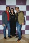 Ashok Sakariya, Amy Billimoria and Sunny Sakariya At Jewellery Show