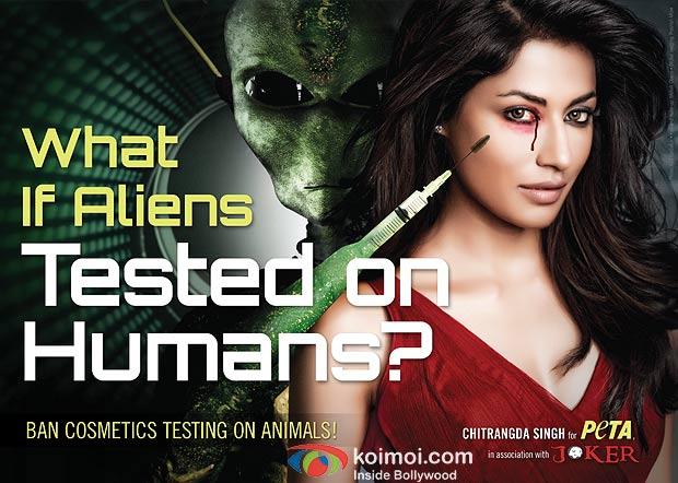 Chitrangada Singh in PETA & Joker Ad Against Testing Cosmetics on Animals
