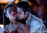 Cute Alia Bhatt in a romantic embrace with Sidharth Malhotra in Student Of The Year Movie Stills