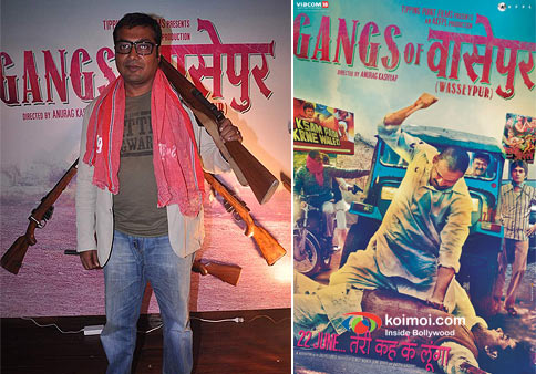 Director Anurag Kashyap and Gangs of Wasseypur Movie Poster