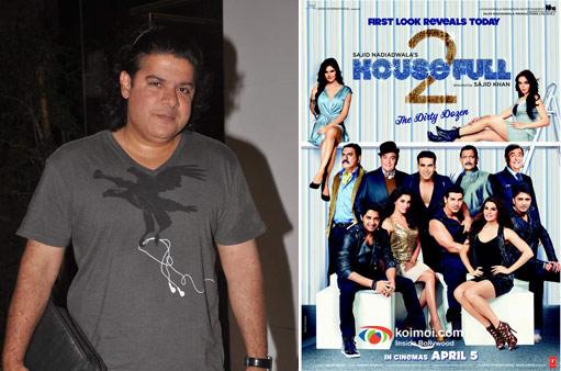 Director Sajid Khan and Housefull 2 Movie Poster