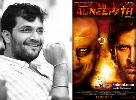 Director Karan Malhotra and Agneepath Movie Poster