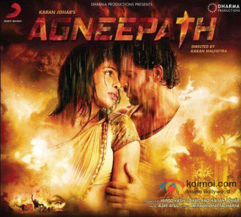 Hrithik Roshan and Priyanka Chopra (Agneepath Movie Poster)