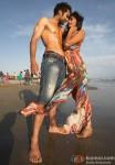 Jackky Bhagnani and Hot Nidhi Subbaiah on the beach in Ajab Gazabb Love Movie Stills