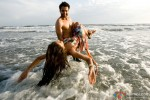 Jackky Bhagnani and Nidhi Subbaiah in a romantic scene from Ajab Gazabb Love Movie Stills