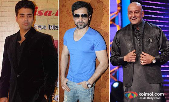Karan Johar, Emraan Hashmi and Sanjay Dutt