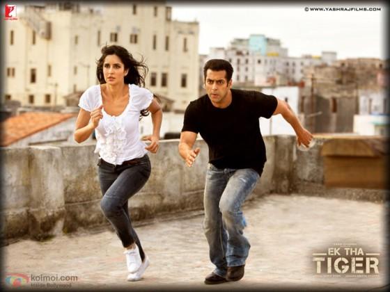 Katrina Kaif And Salman Khan In Ek Tha Tiger Movie Stils