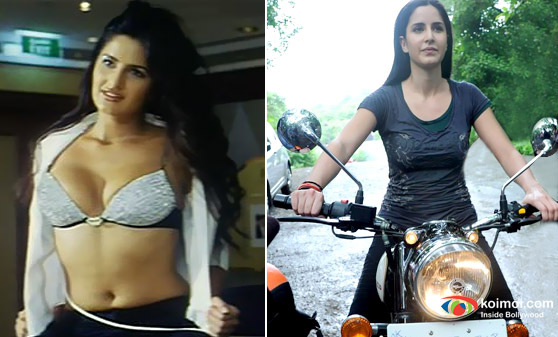 Katrina Kaif in Boom Movie & Katrina Kaif on Bike