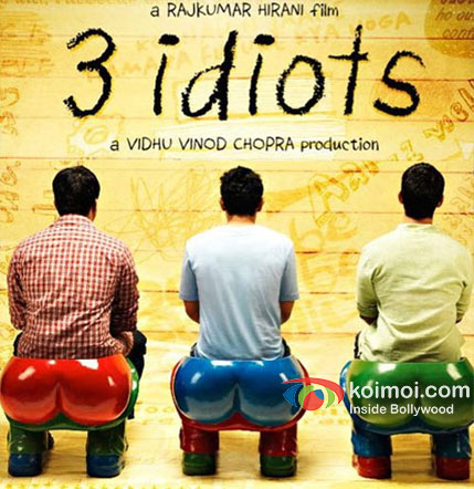 R. Madhavan, Aamir Khan and Sharman Joshi in 3 Idiots Movie Poster