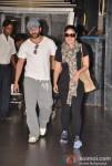 Saif Ali Khan And Kareena Kapoor Return From Paris