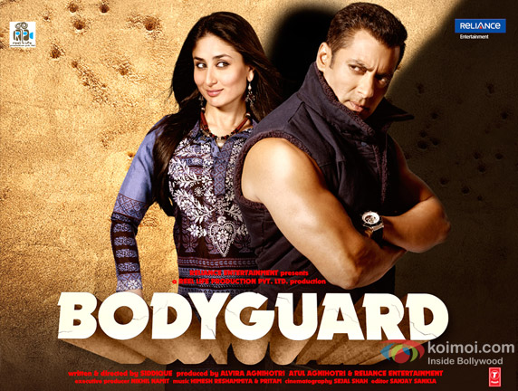 Salman Khan and Kareena Kapoor (Bodyguard Movie Poster Wallpaper)