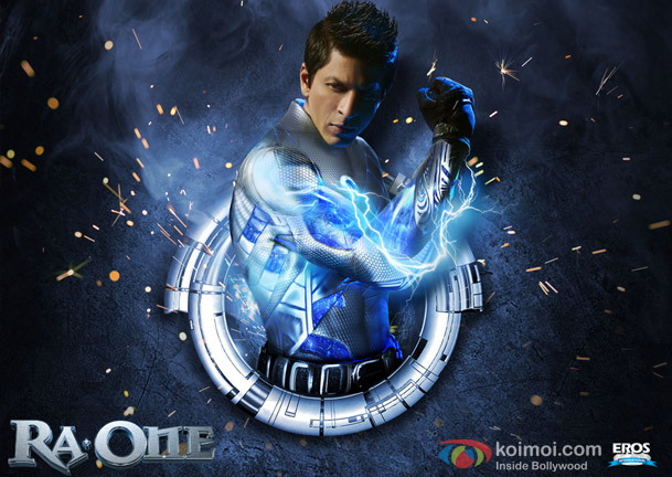 Shah Rukh Khan (Ra.One Movie Poster Wallpaper)