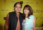 Shashi Tharoor and Sunanda Tharoor At Delhi In A Day Movie Screening