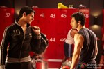 Sidharth Malhotra and Varun Dhawan in a fight in Student Of The Year Movie Stills