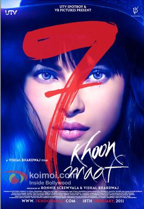 Priyanka Chopra in 7 Khoon Maaf Movie Poster