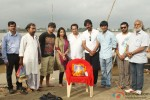 Aanand L Rai and Dhanush on the sets of Raanjhnaa Movie Stills