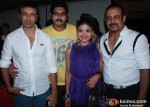 Adi Irani And Shiva With Rashmi PitreAt The Strugglers Amhi Udyache Hero Marathi Movie Music Launch
