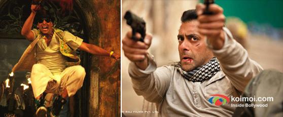 Akshay Kumar In Joker Movie Stills, Salman Khan In Ek Tha Tiger Movie Stills