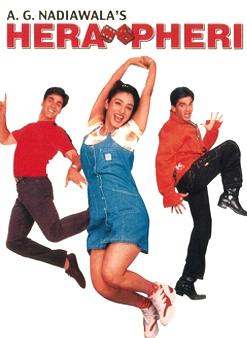 Akshay Kumar, Tabu and Sunil Shetty In Hera Pheri Movie Poster