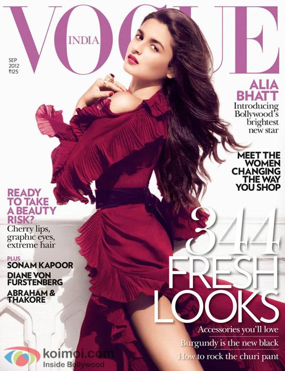 Alia Bhatt On Vogue Magazine Cover Page
