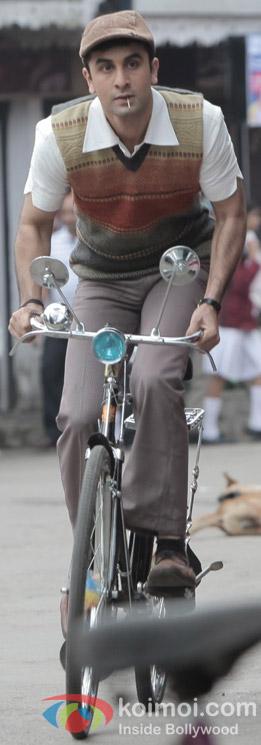 Ranbir Kapoor in a Still from Barfi! Movie